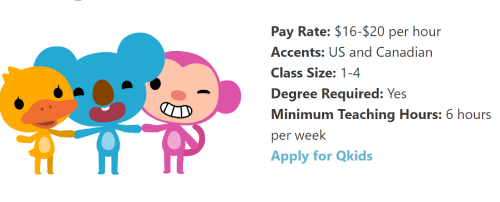 Qkids List of Requirements