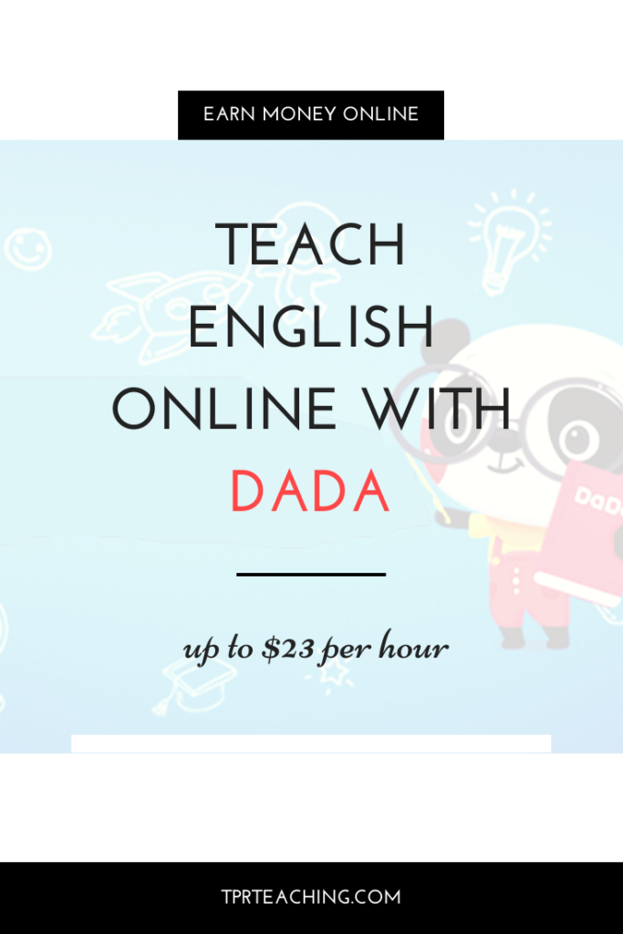 Teach English Online with Dada up to $23 per hour