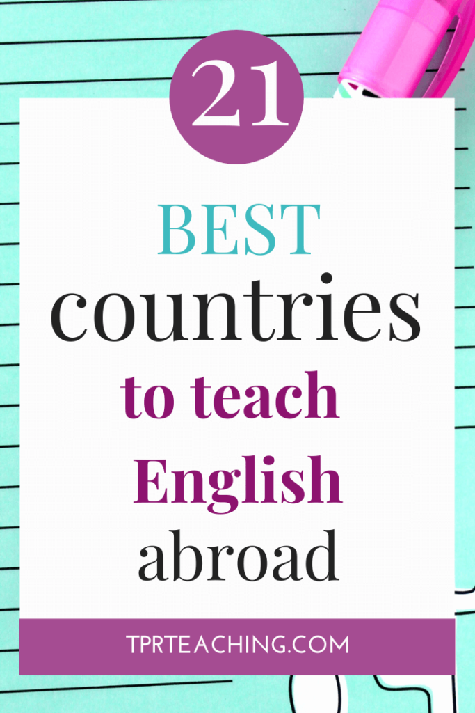Best Countries to Teach English Abroad
