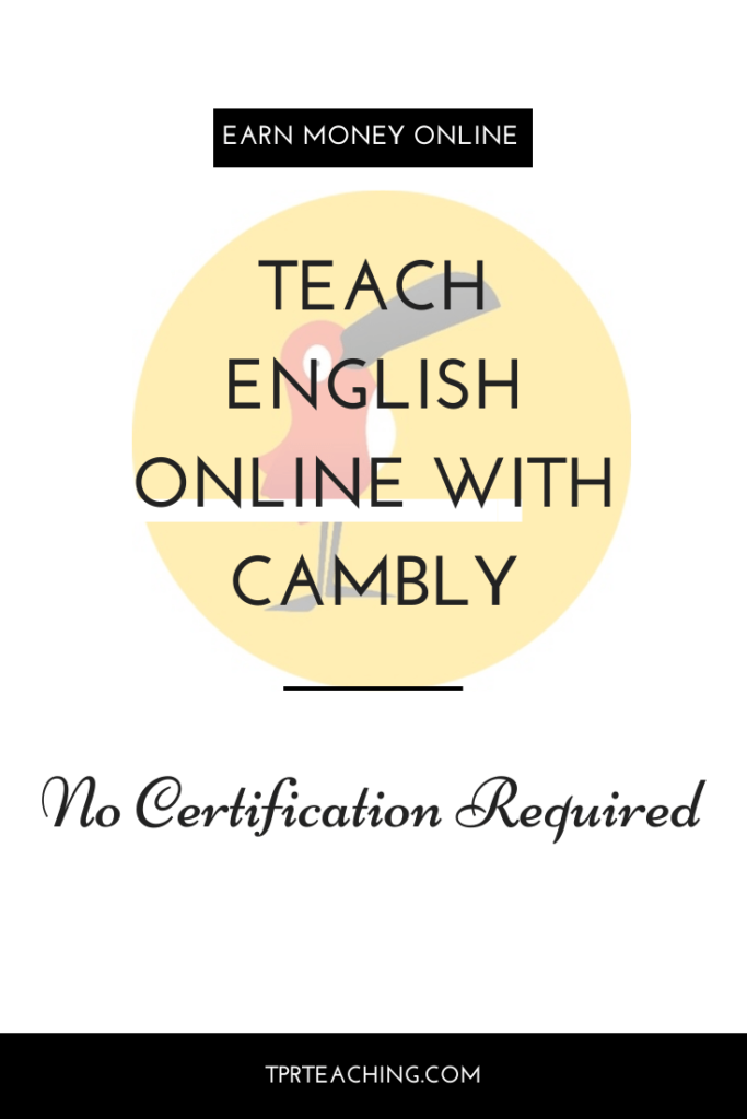 Teach English Online with Cambly