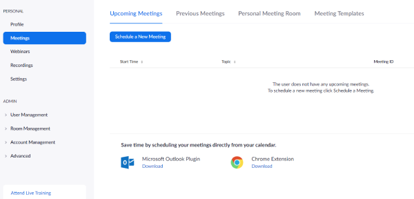 Where to Find Zoom Meetings Tab