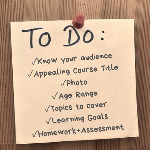 Tips for Writing Up Your Outschool Class