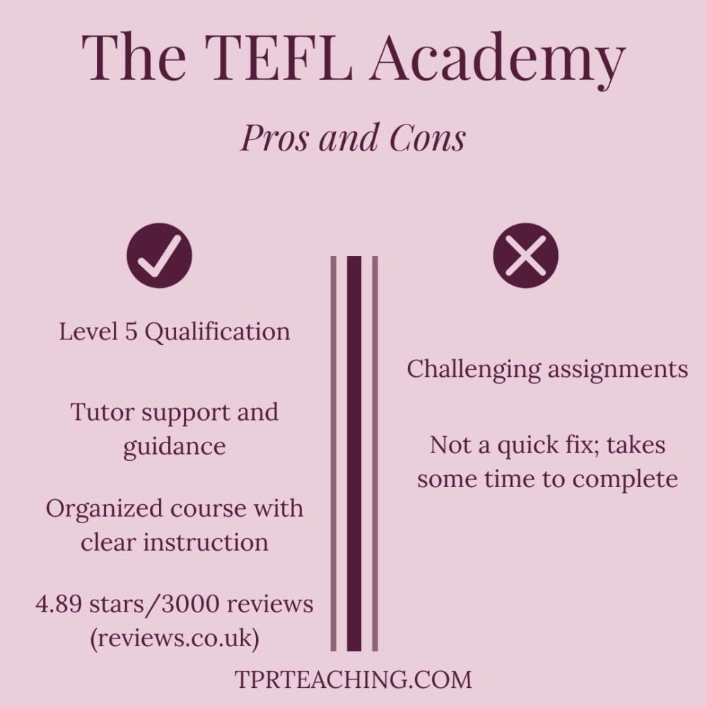 The TEFL Academy Pros and Cons