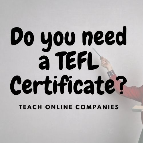 Do You Need a TEFL Certificate