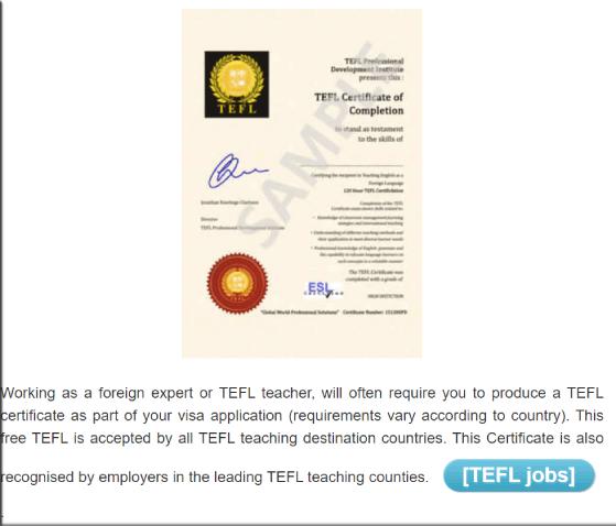 TPDI Teaching Certificate