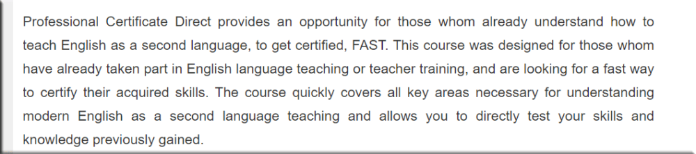 TEFL Professional Development Institute About