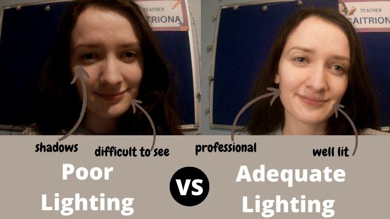 Good Lighting for Online Teaching