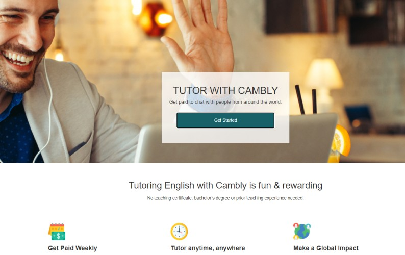 Cambly Tutor Signup