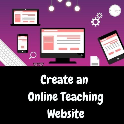 Create an Online Teaching Website
