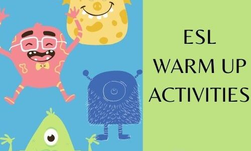19 ESL Warm Up Activities –Simple and Fun