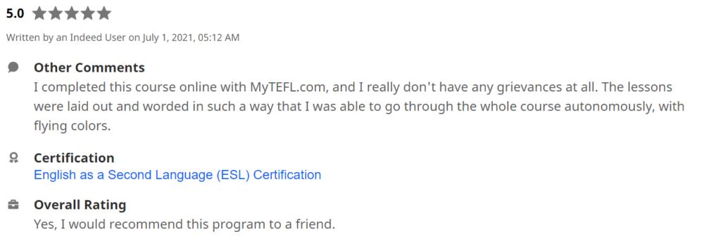 MyTEFL Review
