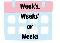 Is it Week's, Weeks', or Weeks? Simple Examples and When to Use